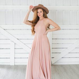 Dusty Rose Bridesmaid/Occasion Dress